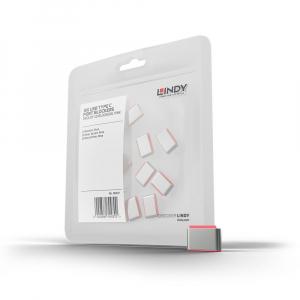 LINDY 40437 USB-C pordi lukk, roosa, 10tk ilma võtmeta