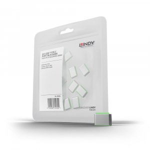 LINDY 40438 USB-C pordi lukk, roheline, 10tk ilma võtmeta