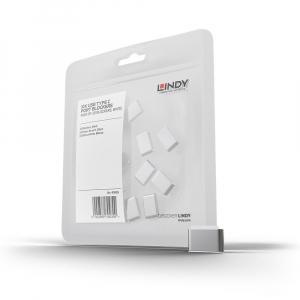 LINDY 40439 USB-C pordi lukk, valge, 10tk ilma võtmeta