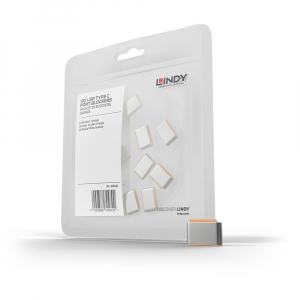 LINDY 40440 USB-C pordi lukk, oranz, 10tk ilma võtmeta