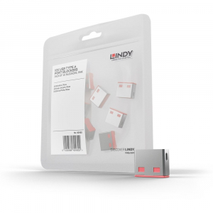 LINDY 40460 USB pordi lukk, roosa, 10tk ilma võtmeta