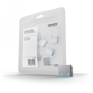 LINDY 40462 USB pordi lukk, sinine, 10tk ilma võtmeta