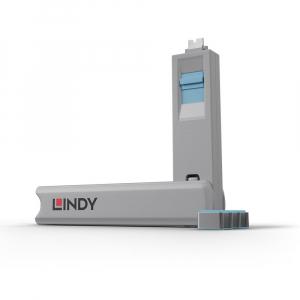 LINDY 40466 USB-C pordi lukk, sinine, 10tk ilma võtmeta