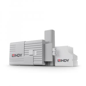 LINDY 40478 SD pordi lukk, valge 4tk + võti
