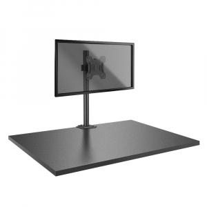 Hoidik 1-le monitorile, must, kuni 8kg, VESA 75 x 75mm ja 100 x 100mm