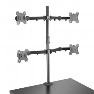 Hoidik 4-le monitorile, must, kuni 7kg, VESA 75 x 75mm ja 100 x 100mm