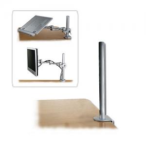 Monitori hoidiku lauakinnitus, 450mm pikk (laua servale), hõbe