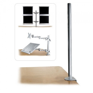 Monitori hoidiku lauakinnitus, 700mm pikk (laua servale), hõbe