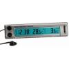 Digitaalne termomeeter -50...+70 °C. Sise- ja välistemperatuur, kell, taustavalgustus.