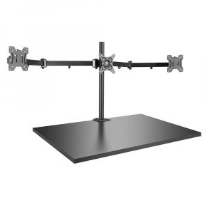 Hoidik 3-le monitorile, must, kuni 7kg, VESA 75 x 75mm ja 100 x 100mm
