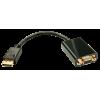 Konverter DisplayPort (M) - VGA (F) 0.15m