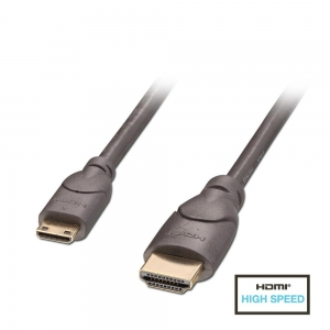 HDMI - mini HDMI kaabel 1.0m, High Speed, 2160p@60Hz, 3D, PREMIUM
