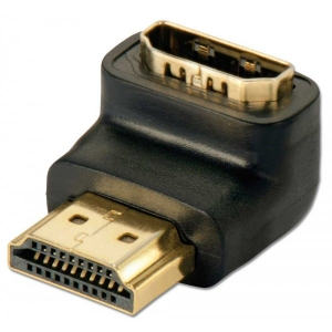 Adapter HDMI (F) - (M) 90° paremale nurgaga, alla