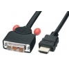 HDMI - DVI-D Single Link kaabel 0.5m