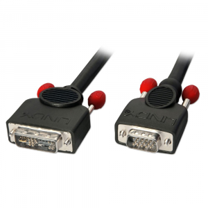 DVI-A - VGA kaabel 2.0m, must