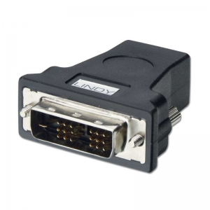 LINDY 41228 Üleminek DVI-D/DVI-I Single Link (M) - HDMI (F)