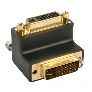 Adapter DVI-I (M) - DVI-I (F), nurgaga