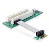 Riserkaart: PCIe x1, 2 x PCI paindkaabliga 9cm, vasakpoolne sisend