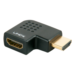 Adapter HDMI (M) - (F), nurgaga paremale, must