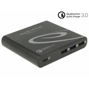 Laadimisjaam 1x USB-C PD 85W, 3x USB-A Qualcomm kiirlaadija, komplektis lisaks 11 erinevat otsikut laptopidele, must