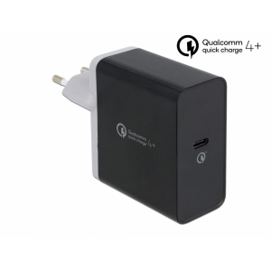 USB laadija, 100-240V > 3.3 - 12V 2.25-3A, 1 USB-C port, PD 3.0 / Qualcomm / Quick Charge, must