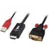 HDMI - VGA + USB kaabel 2.0m 1080p (sign suund HDMI > VGA)