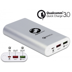 Akupank 2x USB-A 6.5-12V / 1.25-3A, 10200mAh, Qualcomm Quick Charge 3.0