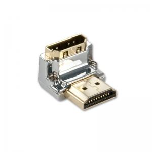 Adapter HDMI (M) - (F) 90kraadi, nurgaga alla, CROMO