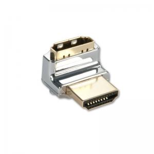 Adapter HDMI (M) - (F) 90kraadi, nurgaga üles, CROMO
