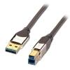 USB 3.0 kaabel A - B 0.5m, CROMO