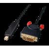 Mini DisplayPort - DVI-D Dual Link kaabel 2.0m, must (sign suund DP > DVI)