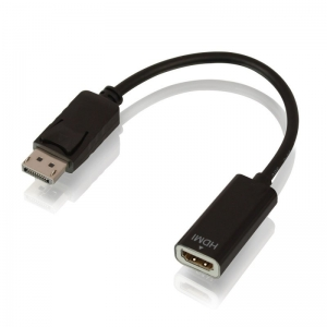 LINDY 41718 Üleminek DisplayPort (M) - HDMI (F), 4K@30Hz Passive (F) 0.15m, must
