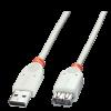 USB 2.0 pikenduskaabel A - A 0.5m, hall
