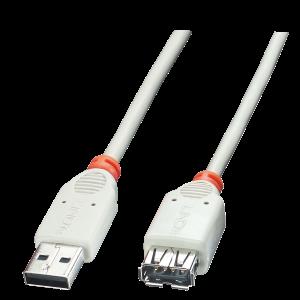 USB 2.0 pikenduskaabel A - A 5.0m, hall