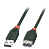 USB 2.0 pikenduskaabel A - A 0.5m, must