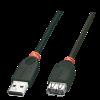 USB 2.0 pikenduskaabel A - A 5.0m, must