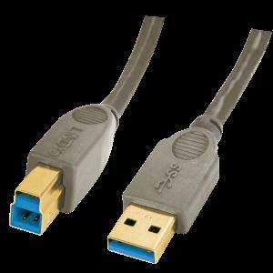 USB 3.0 kaabel A - B 3.0m, pruun, Premium