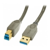 USB 3.0 kaabel A - B 5.0m, pruun, Premium, Anthracite