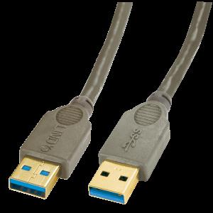 USB 3.0 kaabel A - A 3.0m, pruun, Premium