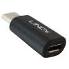 Üleminek USB 2.0 C (M) - Micro B (F), must