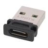 Üleminek USB 2.0 A (M) - C (F), must, kullatud kontaktid