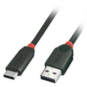 USB-C kaabel, 0.5m, must Premium (Gen2 10Gbps) Laadimisfn-iga 100W