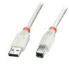 USB 2.0 kaabel A - B 2.0m, hall