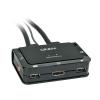 KVM switch: 2 porti, DisplayPort, USB 2.0, Heli, kuni 2160p, kaablitega