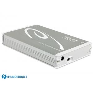 Kõvakettakarp 2.5″ SATA kettale, Thunderbolt ühendus, hõbedane