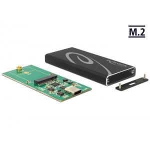 Kõvakettakarp M.2 SSD 42mm kettale, USB-C sisend - USB - A pistik, tööriistavaba