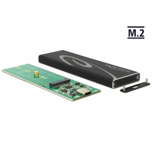 Kõvakettakarp M.2 SSD 80mm kettale, USB-C sisend - USB - A pistik, tööriistavaba