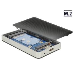 Kõvakettakarp M.2 SSD 2242, 2230 mSATA kettale, USB-C ühendus