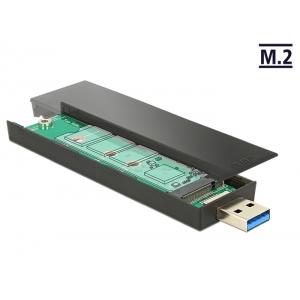 Kõvakettakarp M.2 Key B SSD 80mm kettale, USB 3.1-A pistik