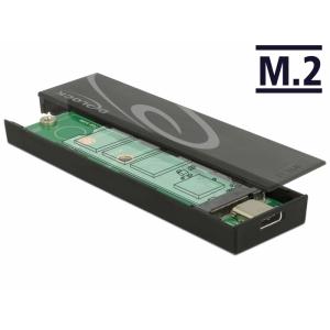 Kõvakettakarp M.2 SSD 42/60/80mm kettale, USB-C sisend - USB - A pistik, tööriistavaba